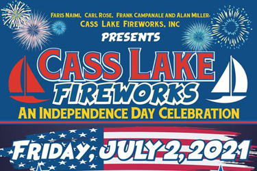 cass lake fireworks